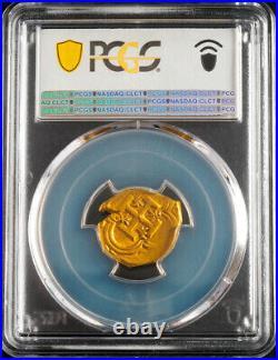 1621, Spain, Philip III. Scarce Gold 2 Escudos Cob Coin. Top Pop 1/0! PCGS AU58