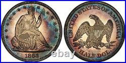 1864 Liberty Seated Half Dollar Proof PR65CAM Rare PCGS Top Pop