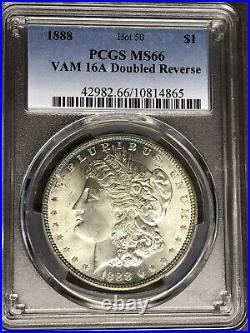 1888 P PCGS MS66 VAM16A Doubled Reverse Hot 50 Top Pop Morgan Silver Dollar Coin