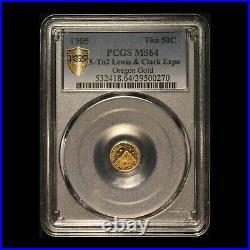 1905 Oregon Gold Lewis & Clark Expo 50C PCGS MS64 PCGS Top Pop (1 of 7)