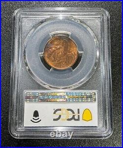 1922 R MS65 RB Italy 10 Centesimi PCGS KM 60 Top Pop 3/0 UNC