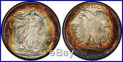 1945 Walking Liberty Half Dollar PCGS MS67+ Top Pop, None Higher Gorgeous