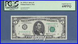 1969A $5 Fr # 1970-B (BB Block) PCGS PPQ 69 TOP POP SCROLL DOWN FOR SCANS