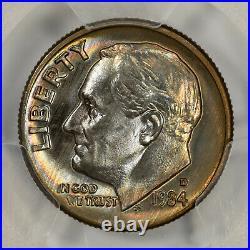 1984 D Roosevelt Dime 10c Pcgs Ms 67+ Mint Unc Plus True View, Top Pop (775)