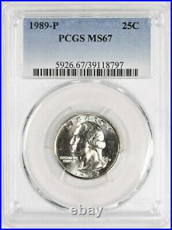 1989 Washington Quarter PCGS MS67 Registry Quality TOP POP! #BKU8