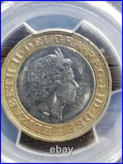 2010 UK 2 pound iron works DDO PCGS AU55 TOP POP
