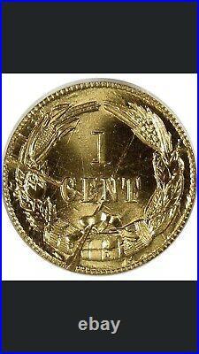 Bashlow Restrike 1861 Confederate Cent BrassMS68 Pcgs, CSA Top Pop 1/5