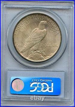 C5069- 1924 Vam-2 Doubled Reverse Top 50 Peace Dollar Pcgs Ms64 Cac Pop 6/4
