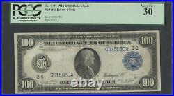 Fr1095 $100 1914 Frn Philadelphia Pcgs Vf 30 (only 26 Known) Top Pop Wlm4183