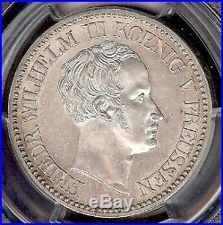 German States Prussia 1828A Mining Taler Coin Thaler PCGS MS61 VZ/F. STG TOP POP