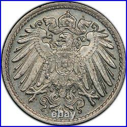 Germany Empire 5 Pfennig 1900 F PCGS MS67 High Grade Top Pop scarce