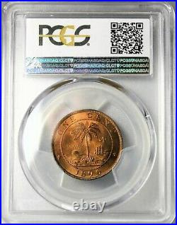 Liberia 1896-H Cent in PCGS SP 66 RD (Red) TOP POP