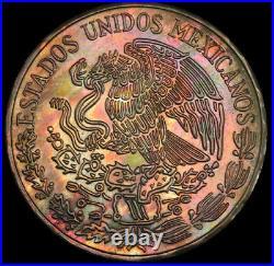 MS66+ 1972-Mo Mexico 5 Peso, PCGS Secure- Beautiful Rainbow Toned Top Pop