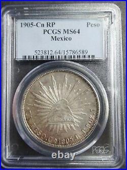 Mexico, Peso 1905 Cn RP, PCGS 64 TOP POP