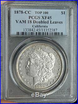POP 7/28 RARE 1878-CC VAM-18 XF-45 Morgan Silver Dollar PCGS TOP 100
