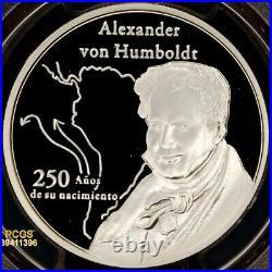 Peru 2019-L Sol 250 Years Birth Alexander von Humboldt, DCAM PCGS PR 69 Top Pop