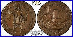 Pre-1933 K-95 Eisenach Wartburgstadt Karl Goetz HUGE Medal PCGS MS64 Top Pop