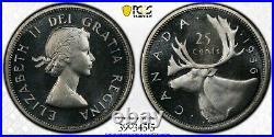 Silver 1956 Canada 25 Cents Quarter PCGS PL67CAM TOP POP