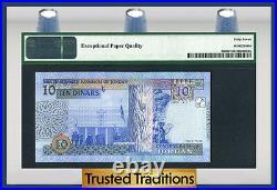 TT PK 36d 2012 JORDAN 10 DINARS KING TALAL IBN ABDULLAH PCGS 67 EPQ TOP POP