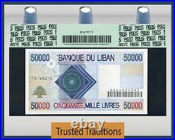 Tt Pk 73 1994-95 Lebanon Banque Du Liban 50000 Livres Pcgs 67 Ppq Superb Top Pop