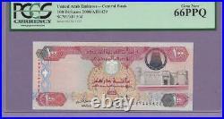 United Arab Emirates Central Bank 100 Dirhams pick # 30d PCGS PPQ TOP POP